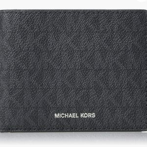 Michael Kors black jet set slim wallet